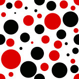 Vector red and black dot geometry pattern. color abstract geometric background . creative art deco. hipster fashion print