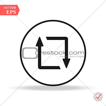 Repeat icon. Loop symbol. Refresh sign. Graphic element on white background