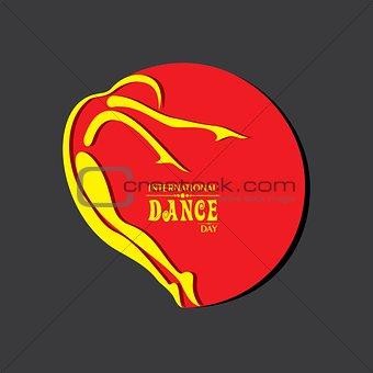 Vector Illustration of International Dance Day Greeting