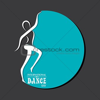Vector Illustration of International Dance Day Greeting