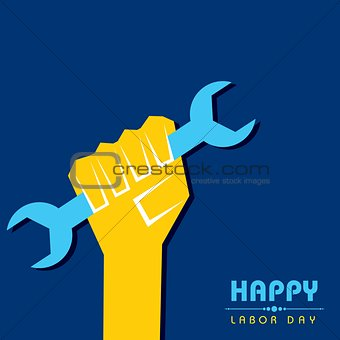 Vector illustration of Labour Day Greeting with nice and beautiful design