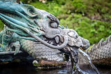 Traditional japanese dragon fountain, Nikko, Japan