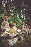 Narabi Jizo statues, Nikko, Japan