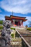Dragon statue in front of the kiyomizu-dera temple, Kyoto, Japan
