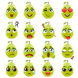 Pear Emoji Emoticon Expression