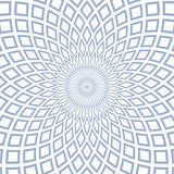 Abstract geometric radial pattern.