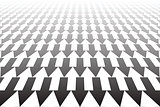 Arrows pattern. Diminishing perspective view.