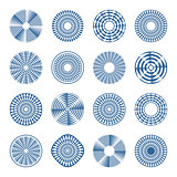 Arrows in circle patterns. Design elements.