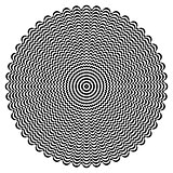 Circle rotation pattern. Vavy lines texture.