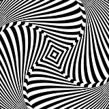 Abstract op art design. Torsion movement.