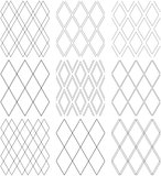 Seamless diamonds patterns. Geometric textures.