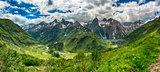 Formazza Valley in spring landscape