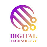 Technology Logo template. Digital Technology