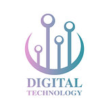 World Tech Logo Design Template. Digital Technology Logo