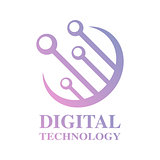 Digital Word Logo. Digital Technology Logotype