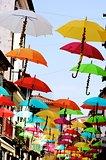 Street with Umbrellas