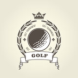 Golf tournament emblem or blazon -  golf ball and laurel wreath