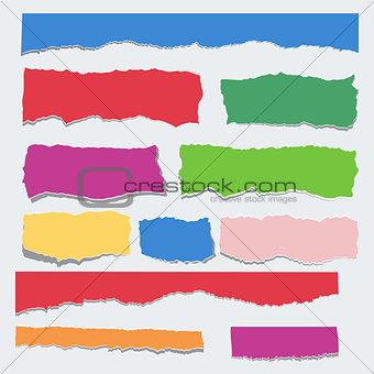 Scrap paper color set
