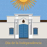 Argentina Independence Day. 9 July. Tucuman House. Sun of May