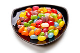 Colorful candies on the plate