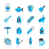 Grilling and barbecue icons