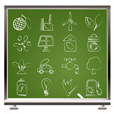 Green, Environment and ecology Icons