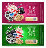 Cinema flyers with gift coupon. Gold free