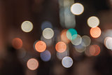 Colorful of  circle bokeh