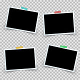 Set four photo frame icon.