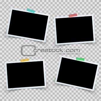 Set four photo frame icon.