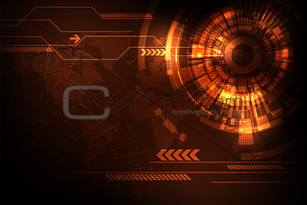 Vector abstract background technology interface design.