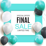 Final Sale Balloon Background Vector Illustration