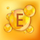 Vitamin  E  Icon Antioxidant. Vector Illustration