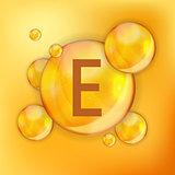 Vitamin  E  Icon Antioxidant. Vector Illustration