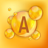 Vitamin A Icon Antioxidant. Vector Illustration