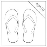 summer slippers vector illustration eps 10