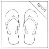 summer slippers vector illustration eps 10
