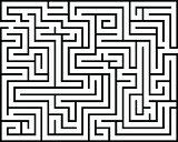 Rectangle maze isolated