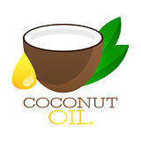 Coconut oil logo.