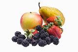 Fresh Fruit on a white background
