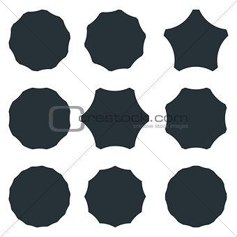 badge frames set