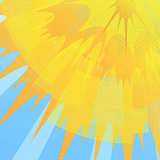 Summer sun geometric background.