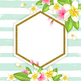 Abstract summer floral vector tropical background
