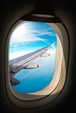 Airplane Wing - Through the Porthole Window
