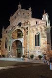 Verona Cathedral at Night - Veneto Italy