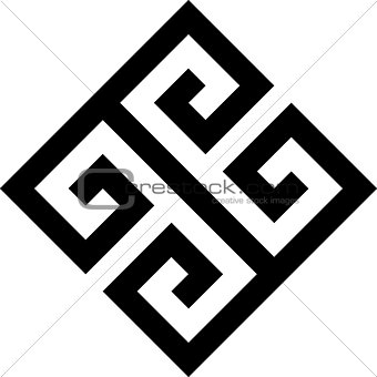 Greek key. Typical egyptian, assyrian and greek motives vector symbol.