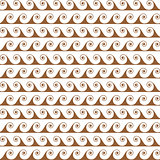 Gold waves lines seamless vector greek pattern.