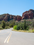View from Red Rock Scenic Byway in Sedona, Arizona