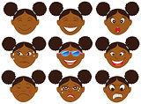 Afro Girl Emoticon Emoji