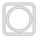 Simple rope frames - square and round rope borders